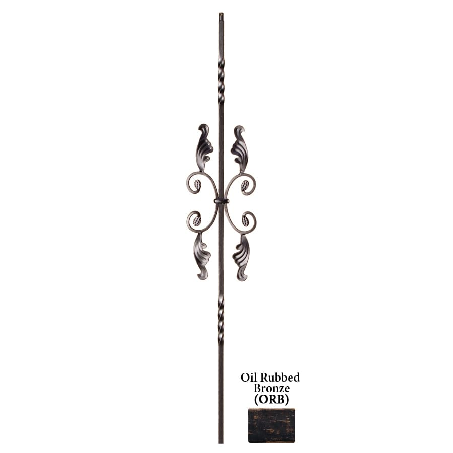 House of Forgings Solid 44-in Oil Rubbed Bronze Wrought Iron Twist Stair Baluster
