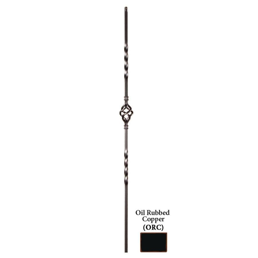 House of Forgings Hollow 44-in Oil Rubbed Copper Wrought Iron Twist Stair Baluster