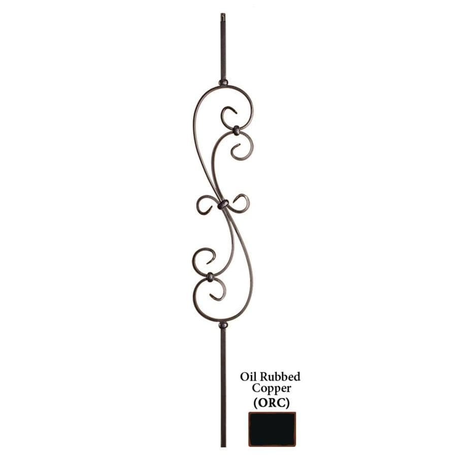 House of Forgings Hollow 44-in Oil Rubbed Copper Wrought Iron Scroll Stair Baluster