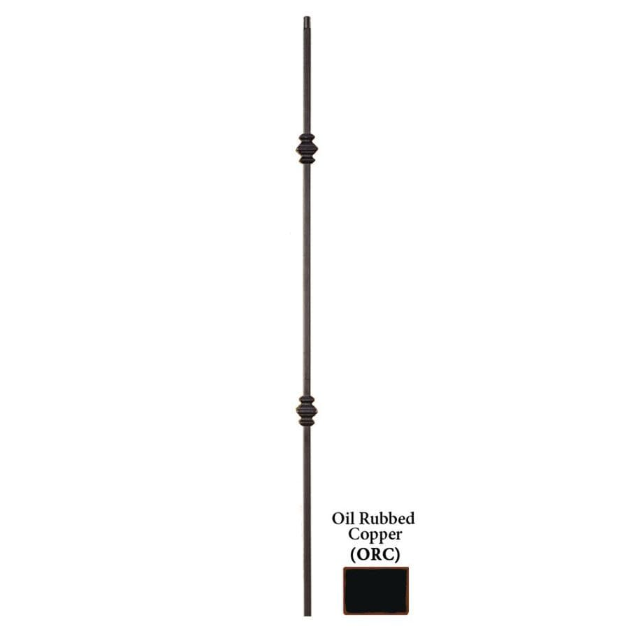 House of Forgings Hollow 44-in Oil Rubbed Copper Wrought Iron Versatile Stair Baluster