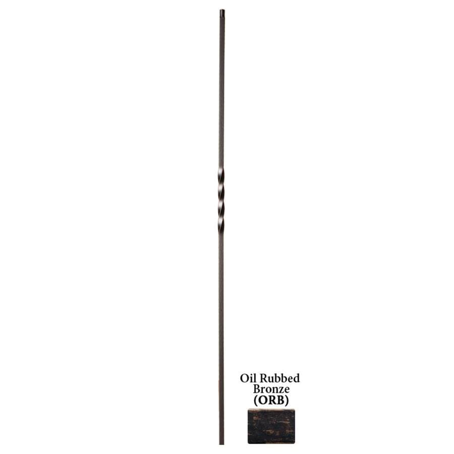 House of Forgings Hollow 44-in Oil Rubbed Bronze Wrought Iron Twist Stair Baluster