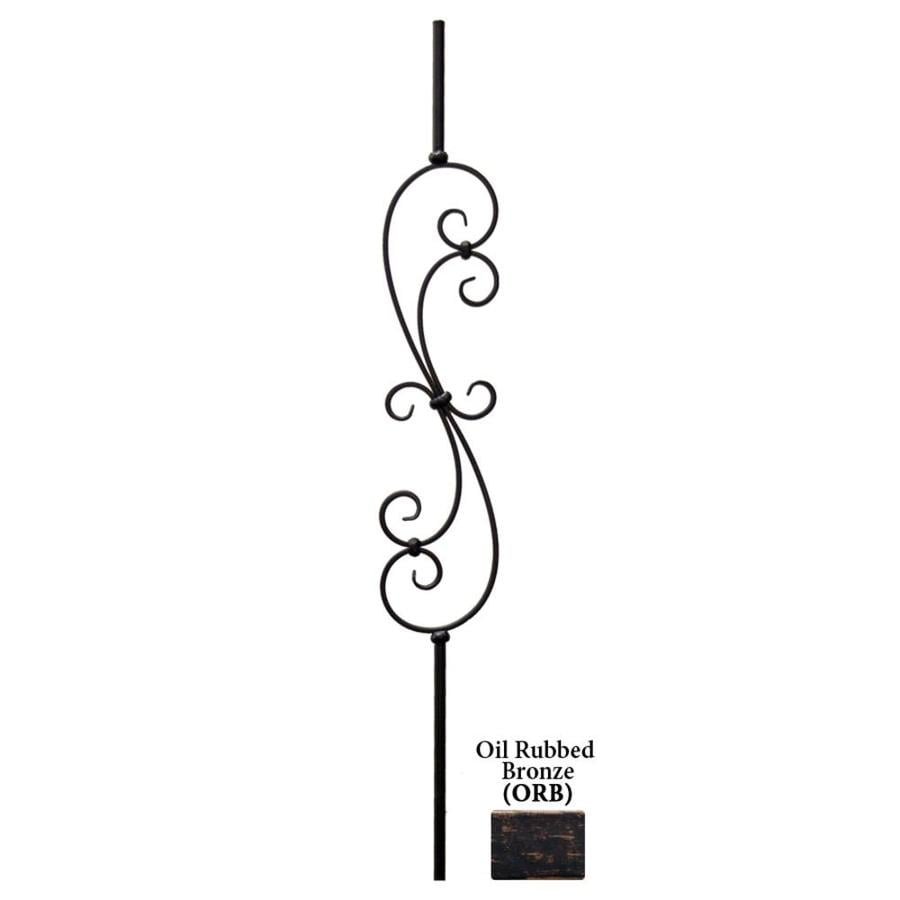 House of Forgings Hollow 44-in Oil Rubbed Bronze Wrought Iron Scroll Stair Baluster