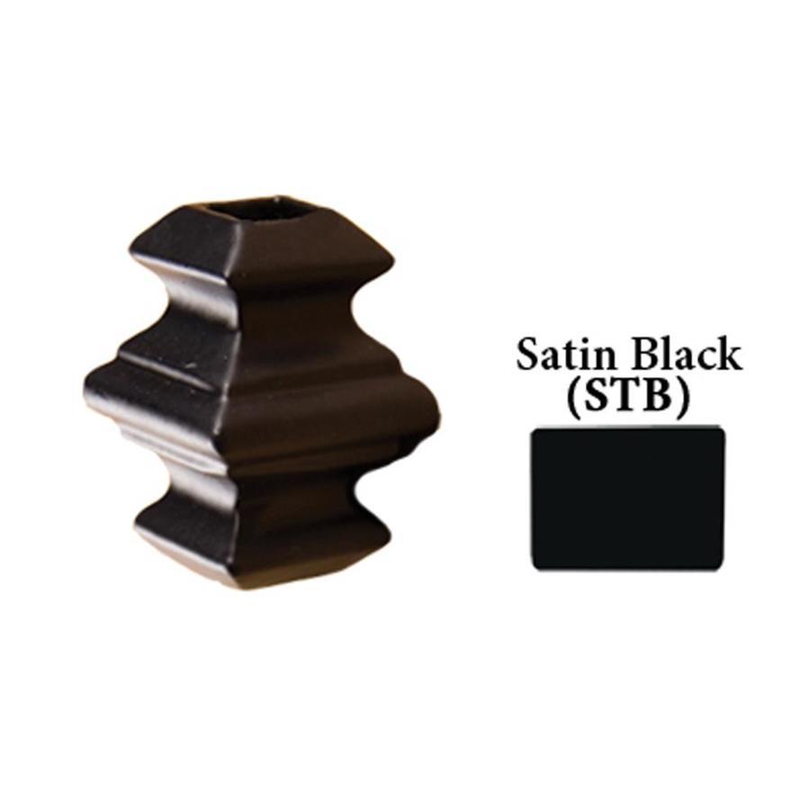 House of Forgings Square Satin Black Aluminum Baluster Shoe