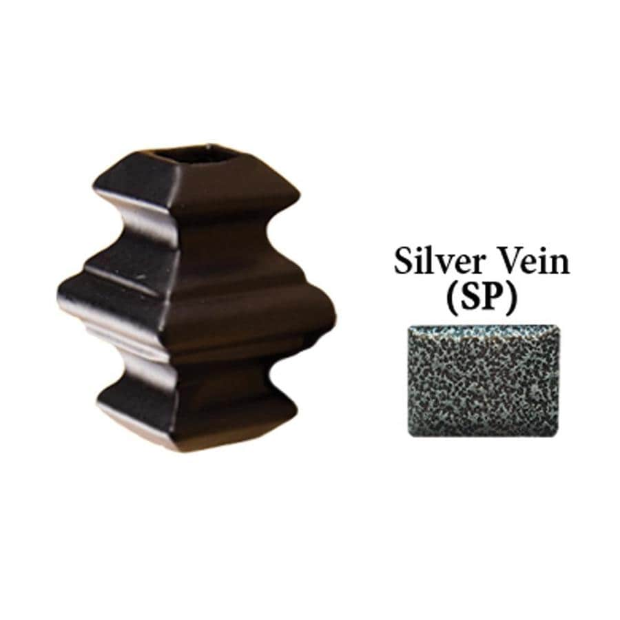 House of Forgings Square Silver Vein Aluminum Baluster Shoe