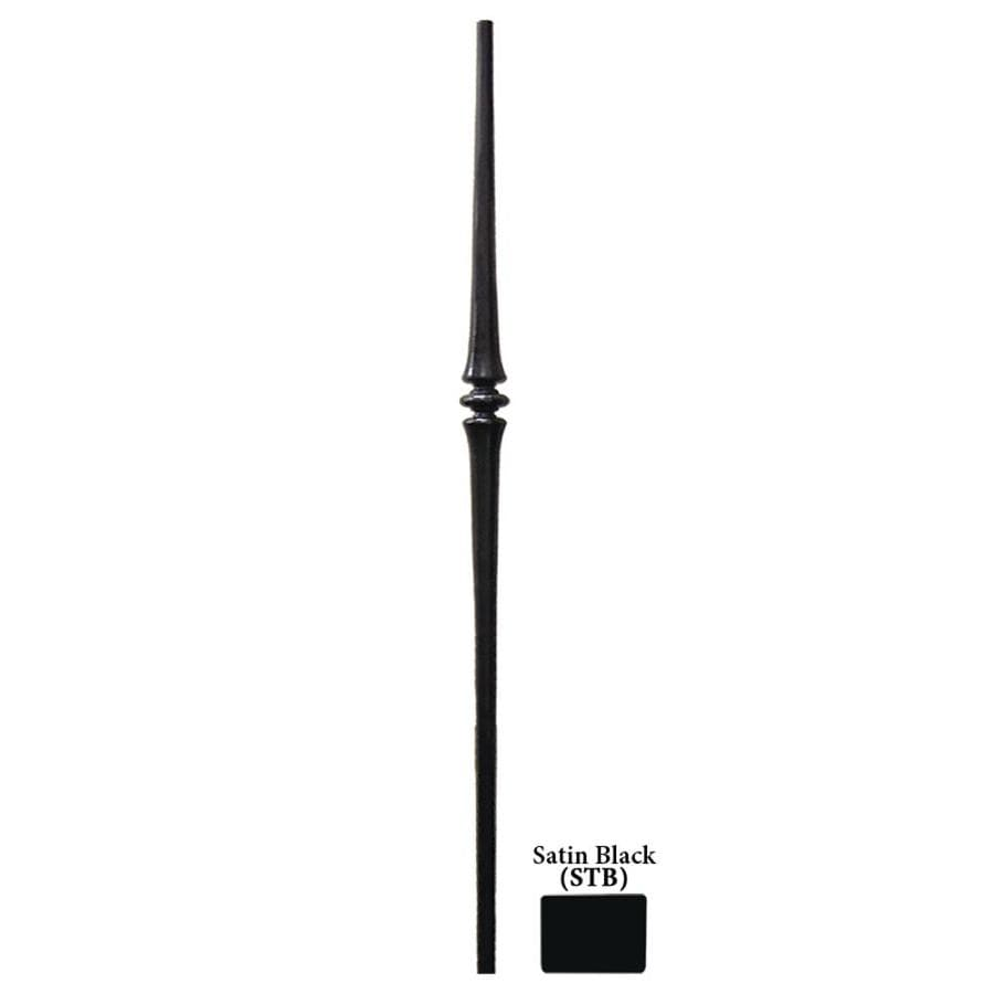 House of Forgings Tuscan Round Forged 1-in x 47-in Satin Black Painted Wrought Iron Stair Newel Post