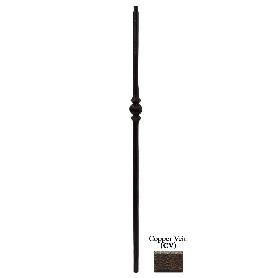House of Forgings Tuscan Round Forged 1-in x 47-in Copper Vein Painted Wrought Iron Stair Newel Post
