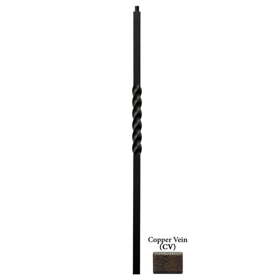 House of Forgings Twist Series 1.187-in x 47-in Copper Vein Painted Wrought Iron Stair Newel Post