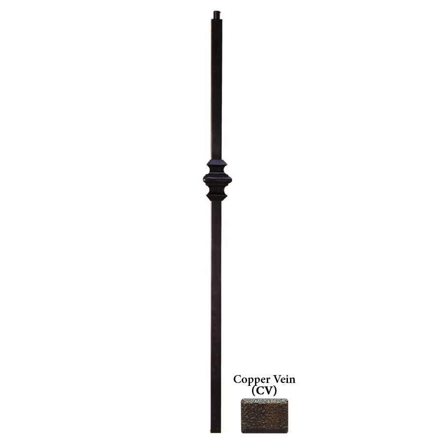 House of Forgings Versatile Series 1.187-in x 47-in Copper Vein Painted Wrought Iron Stair Newel Post