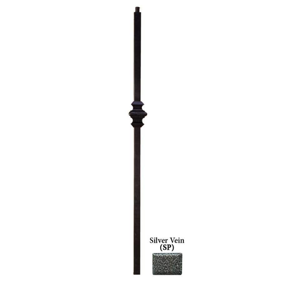 House of Forgings Versatile Series 1.187-in x 47-in Silver Vein Painted Wrought Iron Stair Newel Post