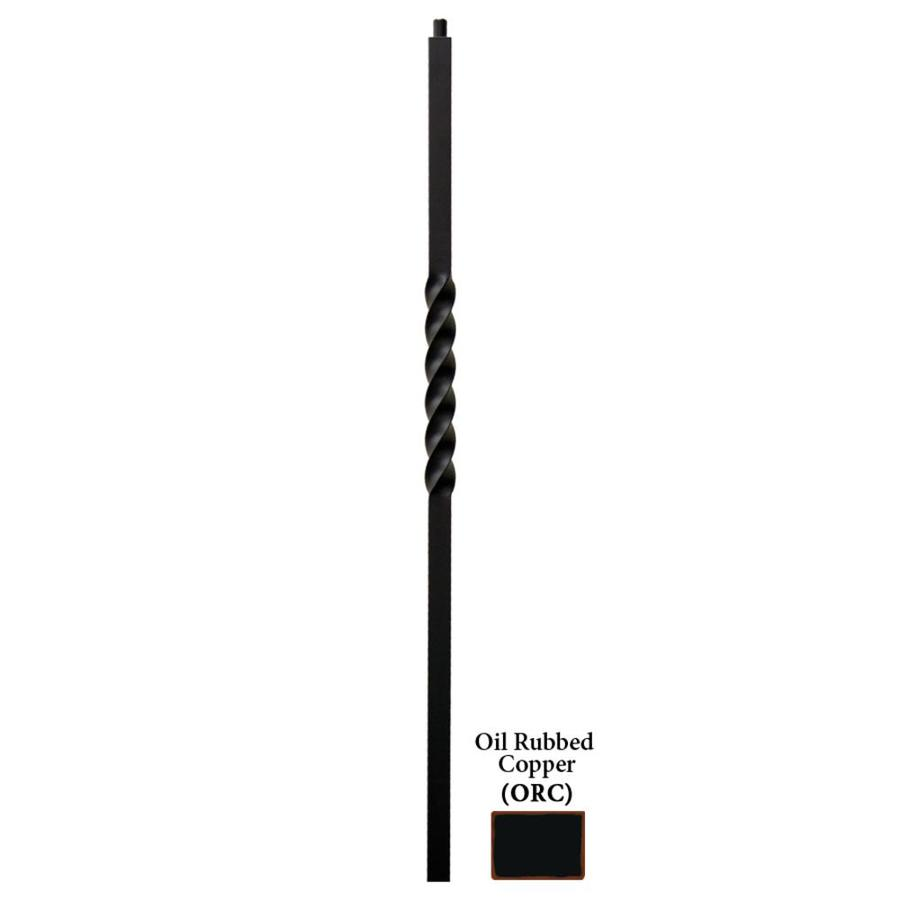 House of Forgings Twist Series 1.187-in x 47-in Oil Rubbed Copper Painted Wrought Iron Stair Newel Post