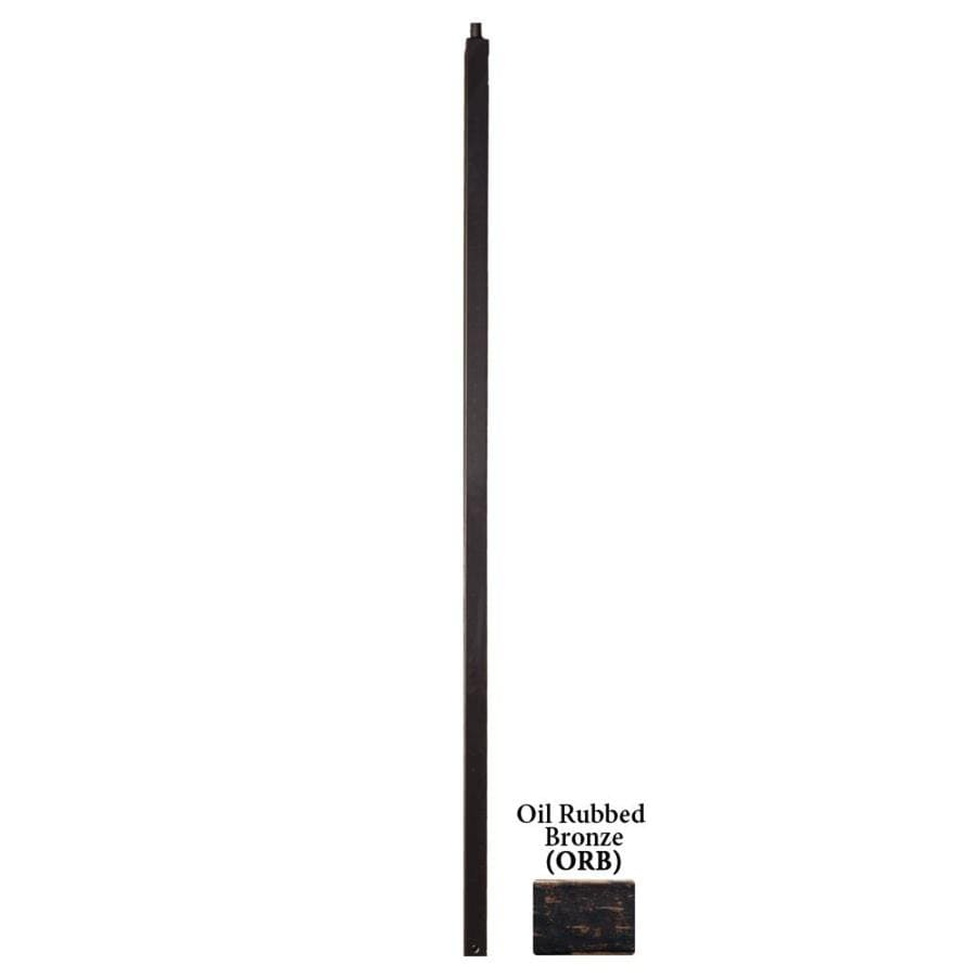 House of Forgings Versatile Series 1.187-in x 47-in Oil Rubbed Bronze Painted Wrought Iron Stair Newel Post