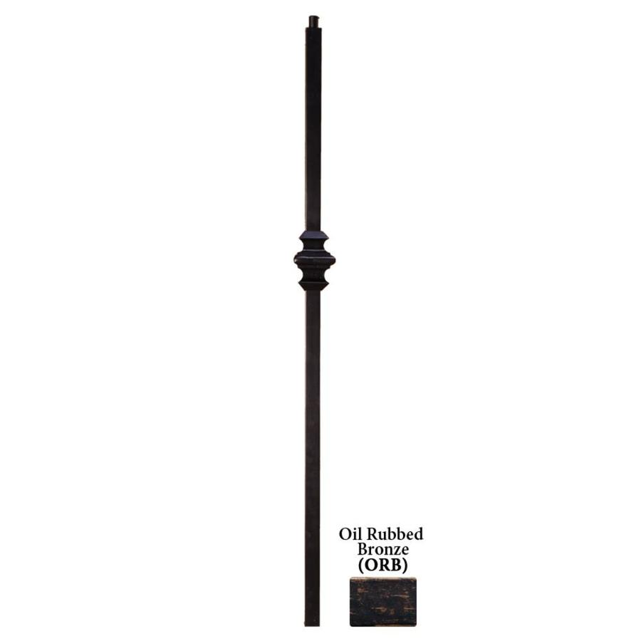 House of Forgings Versatile Series 1.187-in x 48-in Oil Rubbed Bronze Painted Wrought Iron Stair Newel Post