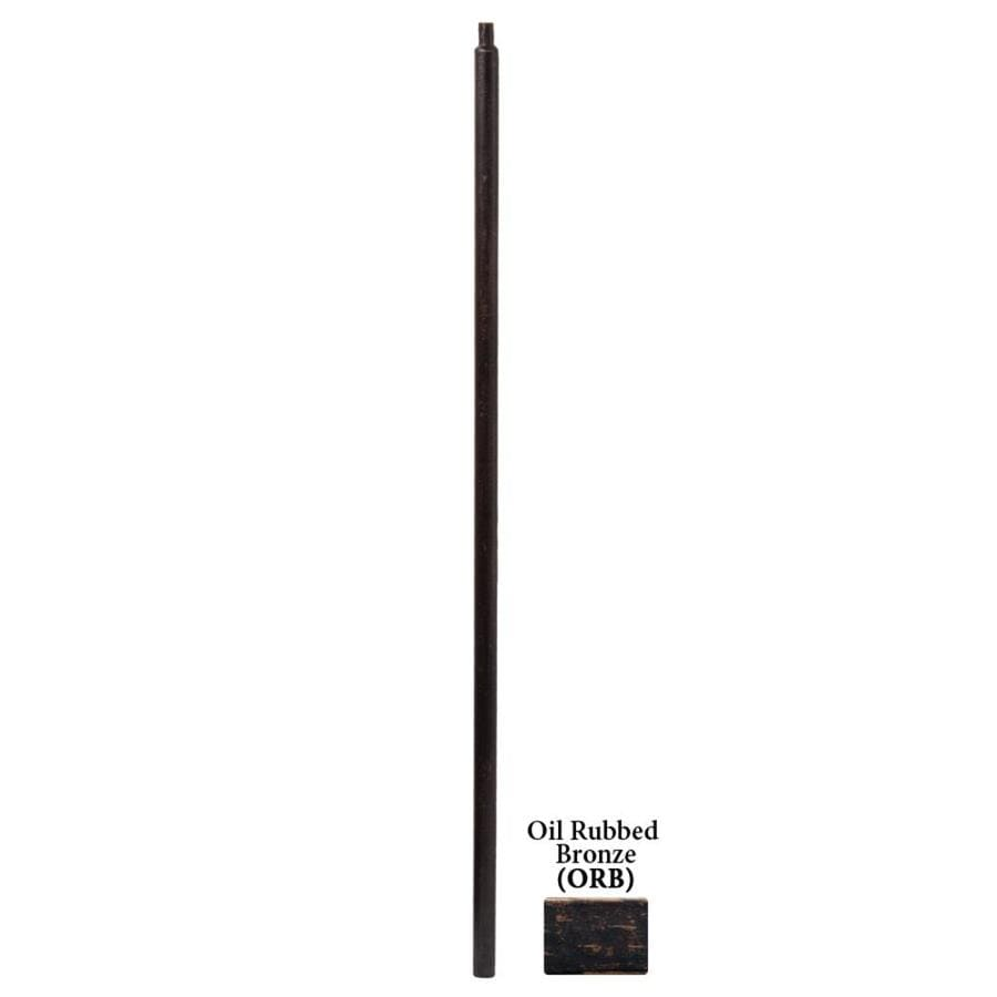 House of Forgings Round Series 1.187-in x 48-in Oil Rubbed Bronze Painted Wrought Iron Stair Newel Post