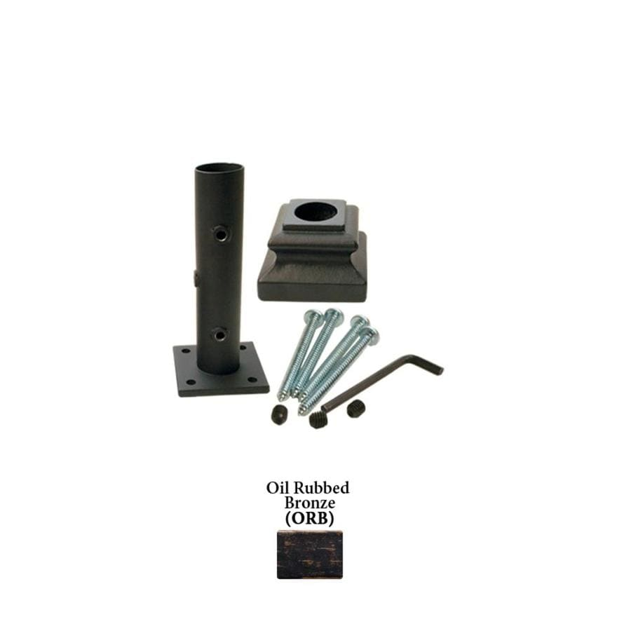 House of Forgings Round Newel Kit Oil Rubbed Bronze Wrought Iron Newel Post Installation Kit