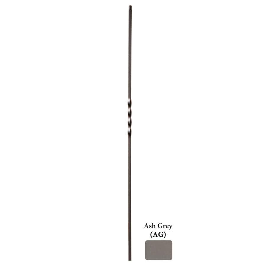 House of Forgings Hollow 44-in Ash Grey Wrought Iron Twist Stair Baluster
