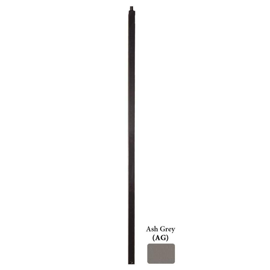 House of Forgings Versatile Series 1.19-in x 48-in Ash Grey Painted Wrought Iron Stair Newel Post