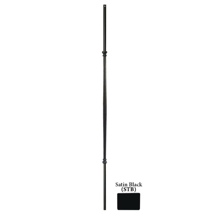 House of Forgings Hollow 44-in Satin Black Wrought Iron Classic Tubular Stair Baluster