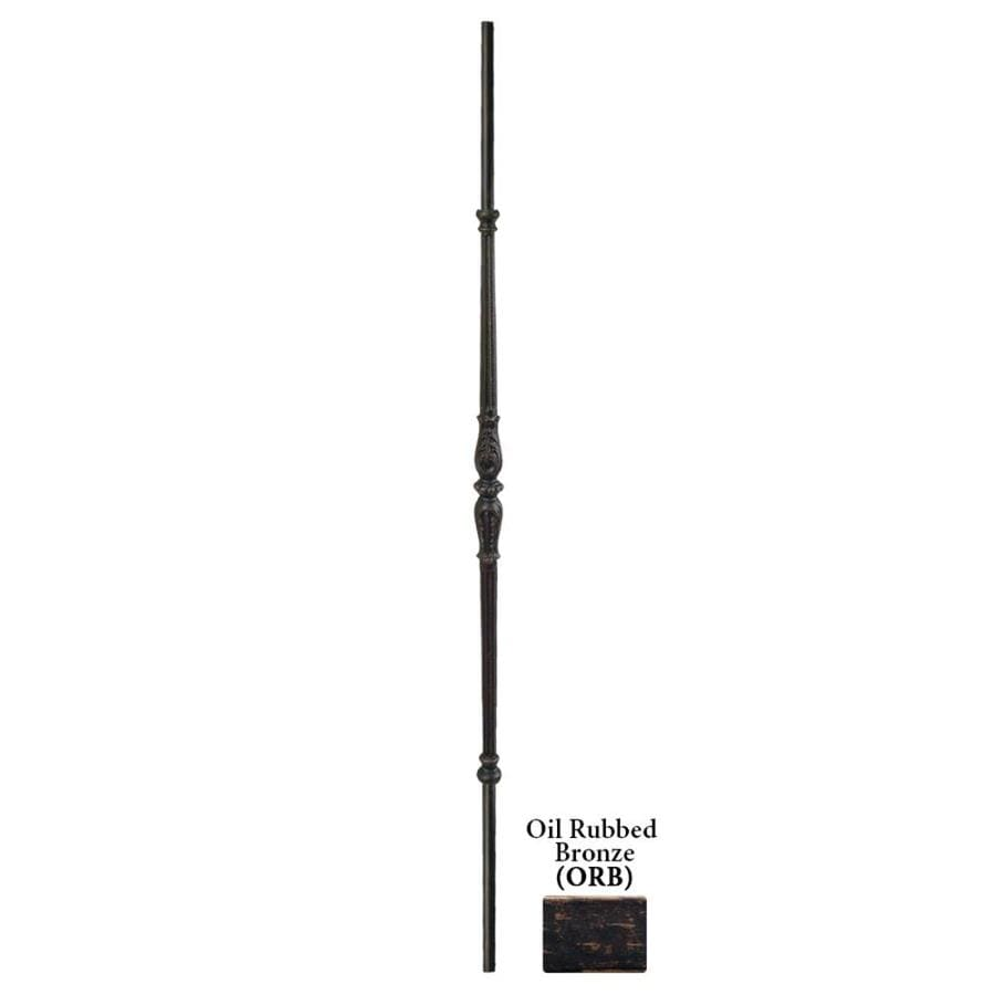 House of Forgings Hollow 44-in Oil Rubbed Bronze Wrought Iron Classic Tubular Stair Baluster