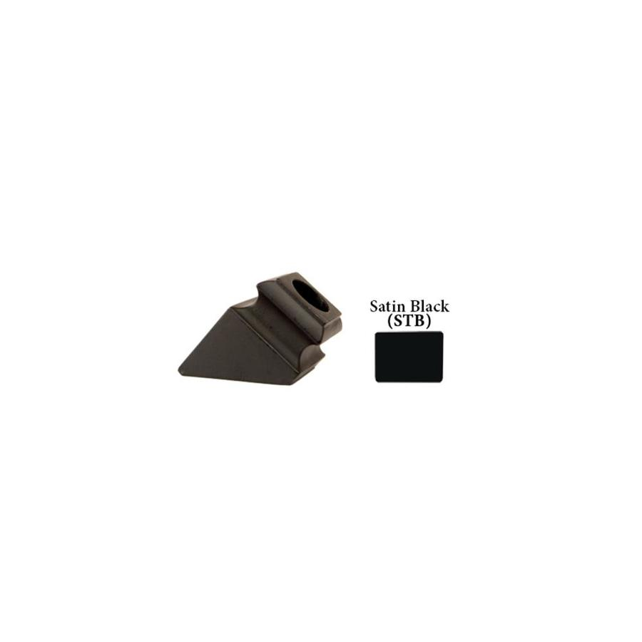 House of Forgings Round Satin Black Aluminum Baluster Shoe