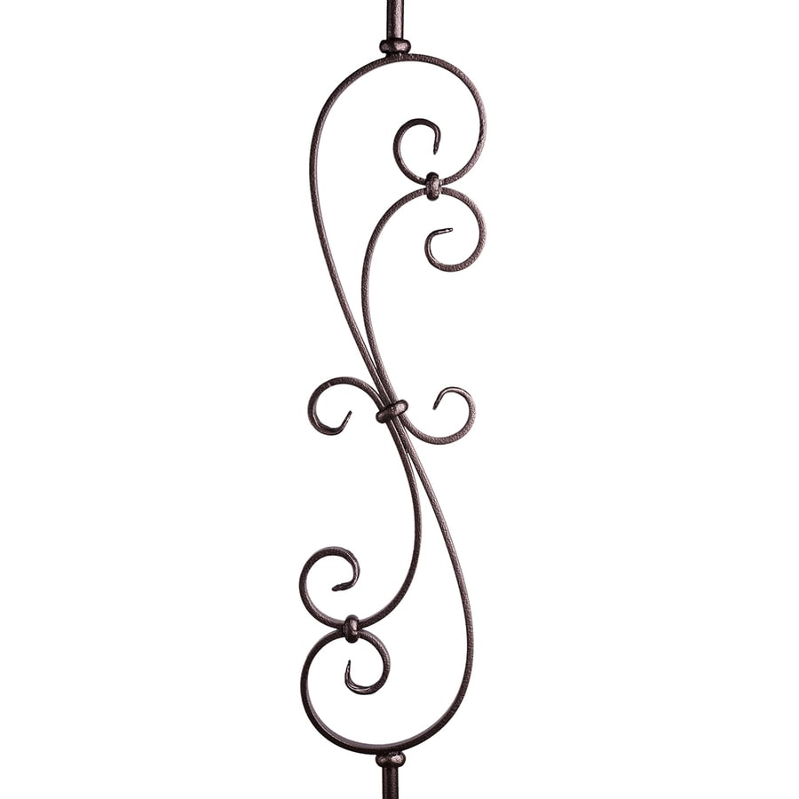 House of Forgings Solid 44-in Copper Vein Wrought Iron Scroll Stair Baluster
