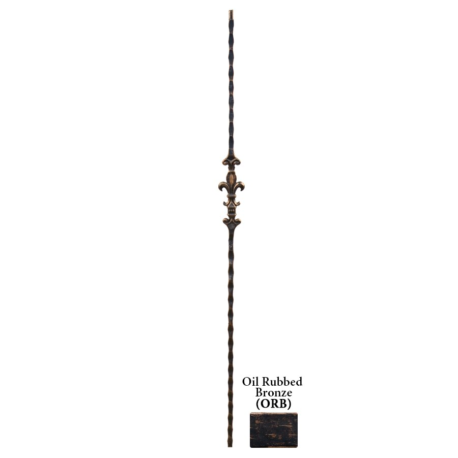 House of Forgings Solid 44-in Oil Rubbed Bronze Wrought Iron Orleans Stair Baluster