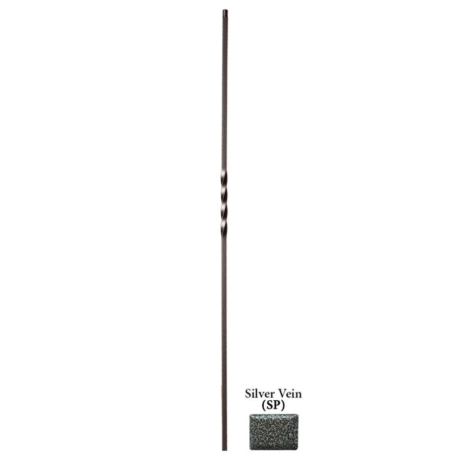 House of Forgings Hollow 44-in Silver Vein Wrought Iron Twist Stair Baluster