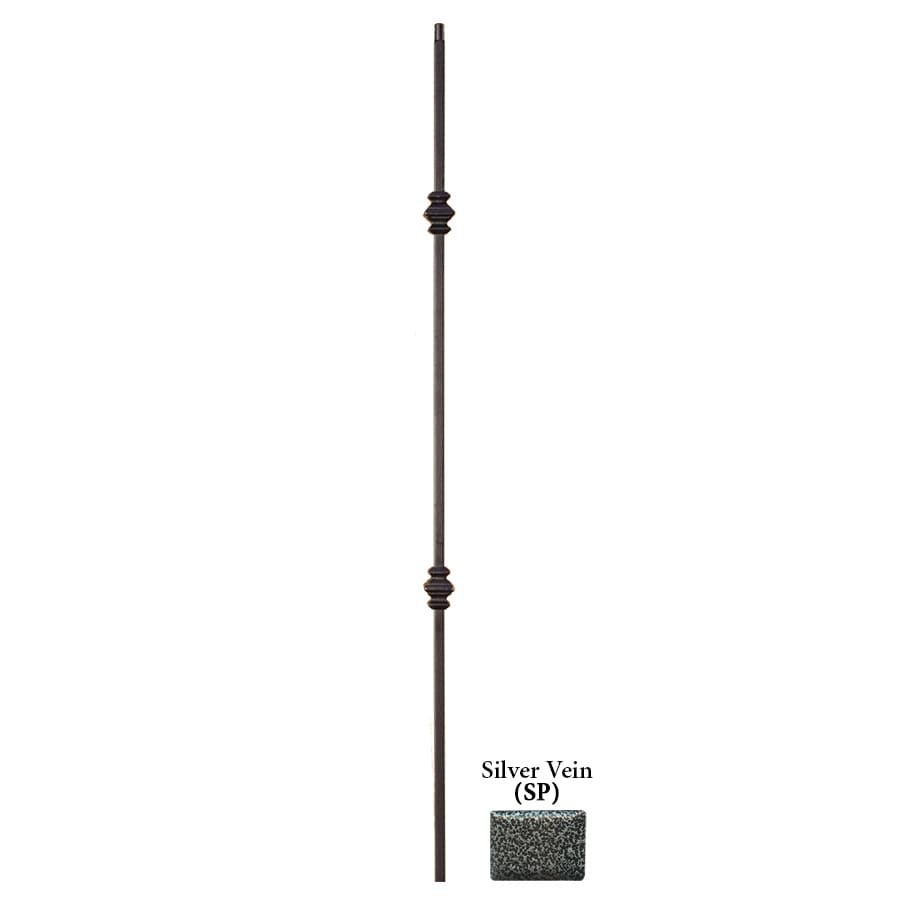 House of Forgings Hollow 44-in Silver Vein Wrought Iron Versatile Stair Baluster