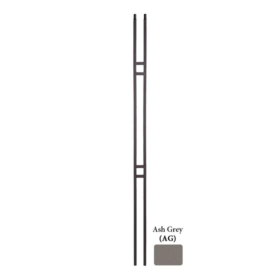 House of Forgings Hollow 44-in Ash Grey Wrought Iron Classic Tubular Stair Baluster