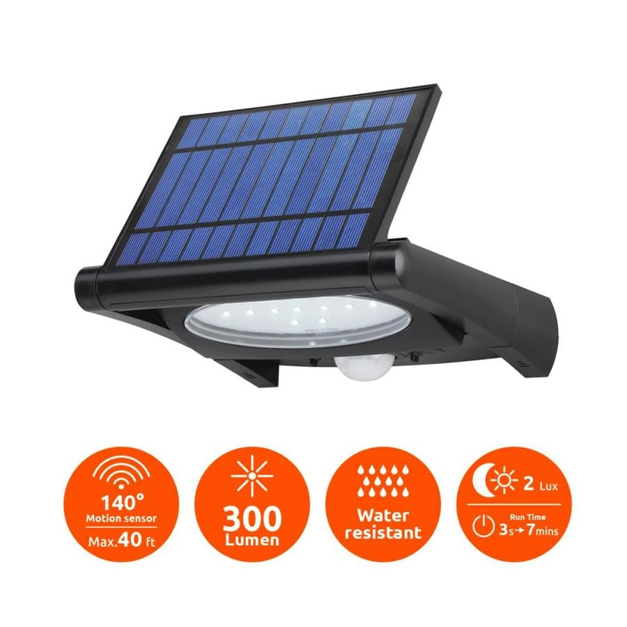 Lowe S Security Lights Outdoor: LINK2HOME Link2Home 300 Lumen Outdoor Solar Powered Motion