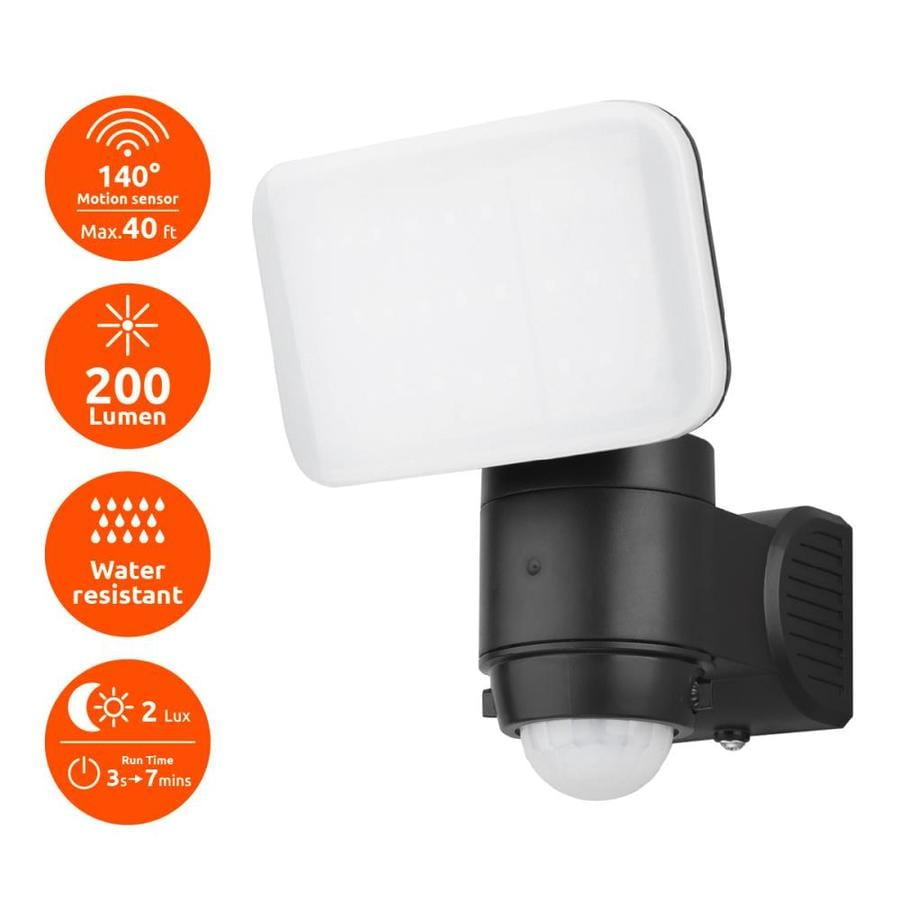 Link2home 200 Lumen Outdoor Battery Ed Motion Sensor Led Safety Security Adjule Flood Light