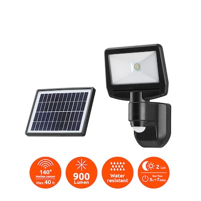 Link2home 700 Lumen Super Bright Outdoor Solar Ed Motion Sensor Adjule Dual Head Led Safety Security Flood Light