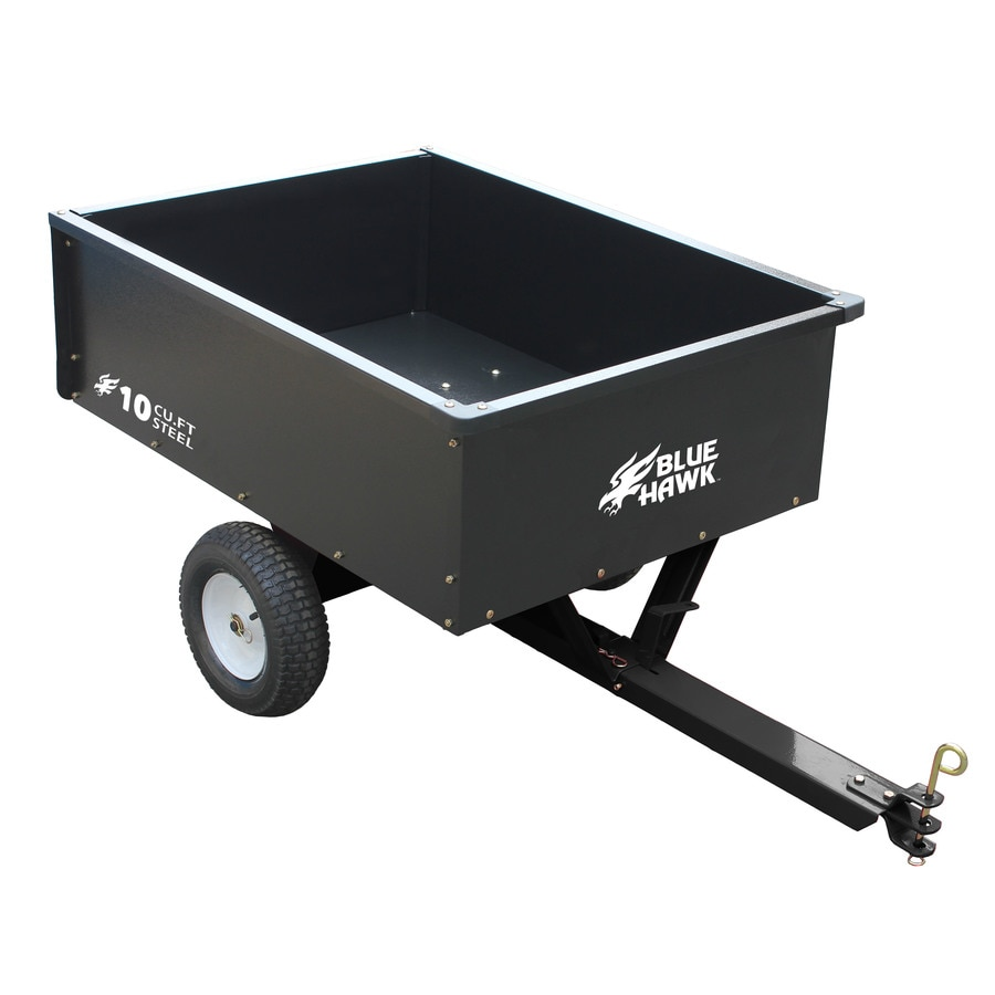 Shop Blue Hawk 10 Cu Ft Carbon Steel Yard Cart At Lowes Com