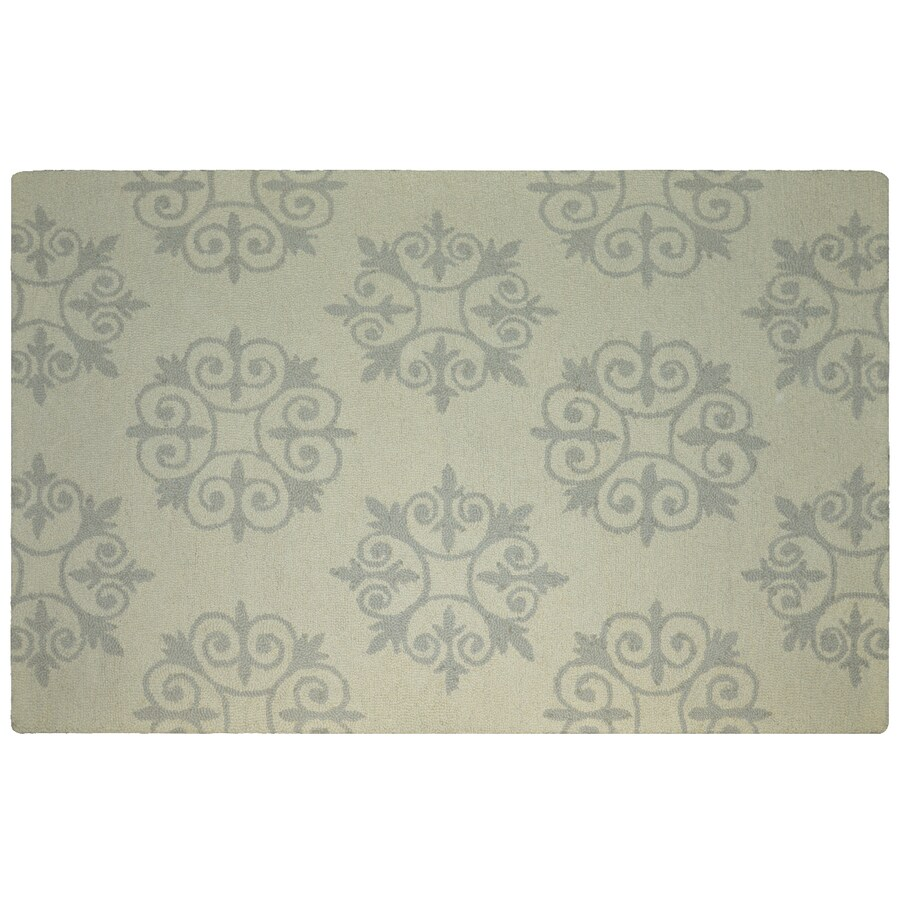 allen + roth Off-White Rectangular Indoor Tufted Area Rug (Common: 8 x 11; Actual: 8-ft W x 11-ft L)