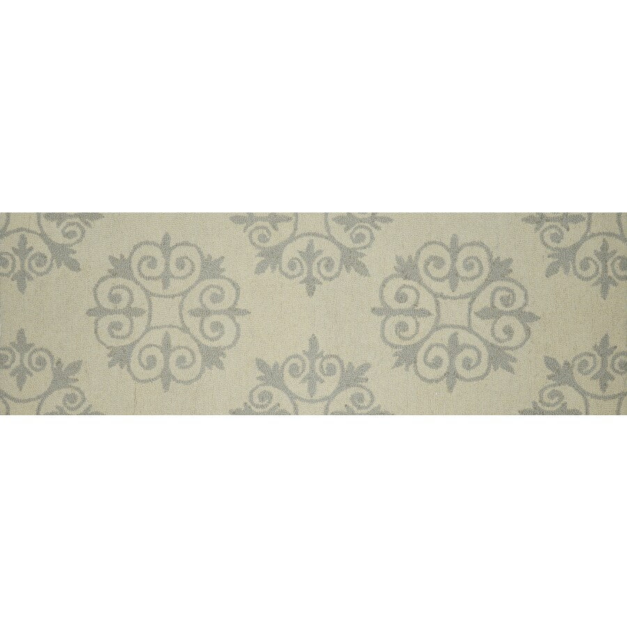 allen + roth Off-White Rectangular Indoor Tufted Runner (Common: 2 x 90; Actual: 2.08-ft W x 7.83-ft L)