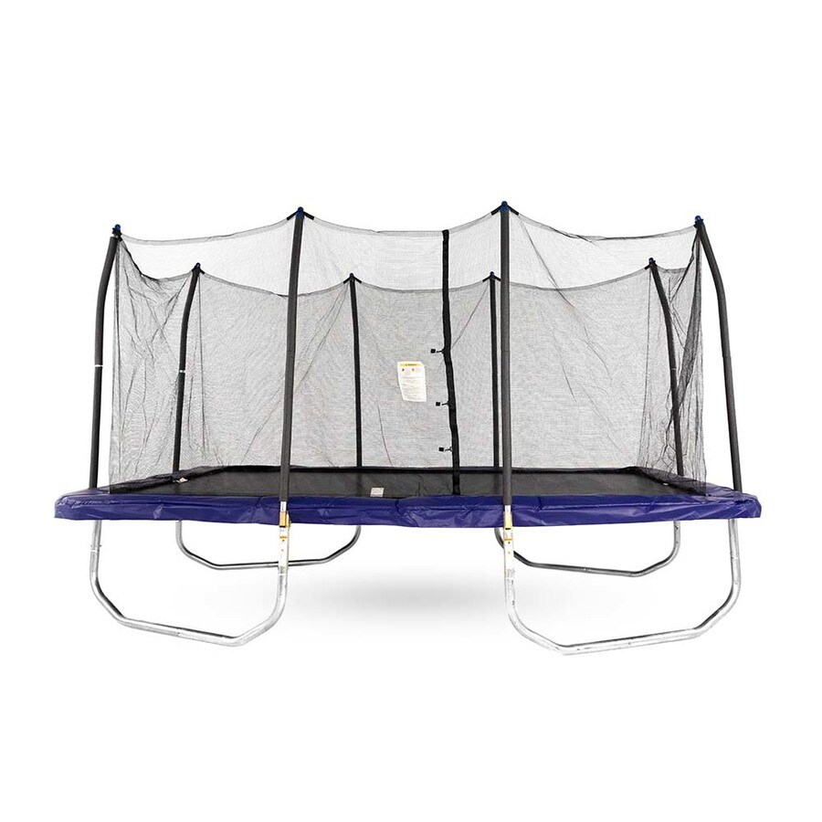 Skywalker Skywalker 9-ft Rectangle Blue Backyard Trampoline with Enclosure
