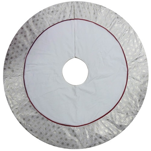 Lowes Christmas Tree Skirts: Allen + Roth 56-in Off-White Cotton Traditional Christmas
