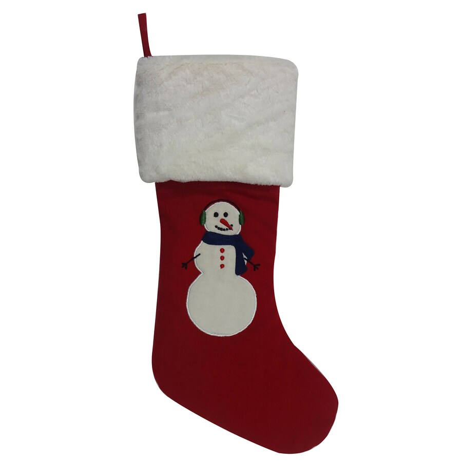 Holiday Living 19-in Red Snowman Christmas Stocking