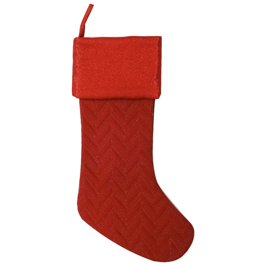 holiday living 19 in red quilted christmas stocking - Quilted Christmas Stockings