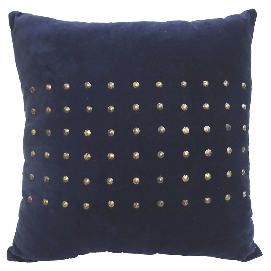 allen + roth 18-in W x 18-in L Blue Square Indoor Decorative Complete Pillow