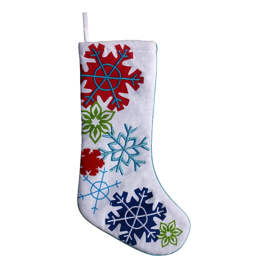Holiday Living 19-in Embroidered Christmas Stocking