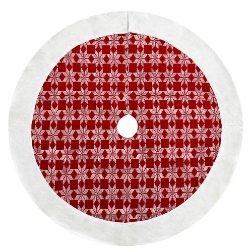 Lowes Christmas Tree Skirts: Holiday Living 56-in Red Cotton Merry Christmas Tree Skirt