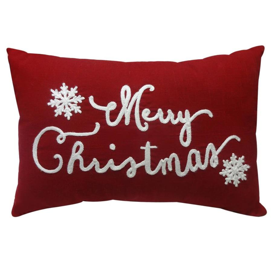 holiday living ss hl merry christmas pillow