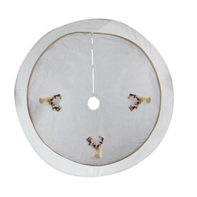 allen + roth Ar Floral Stag Head Tree Skirt