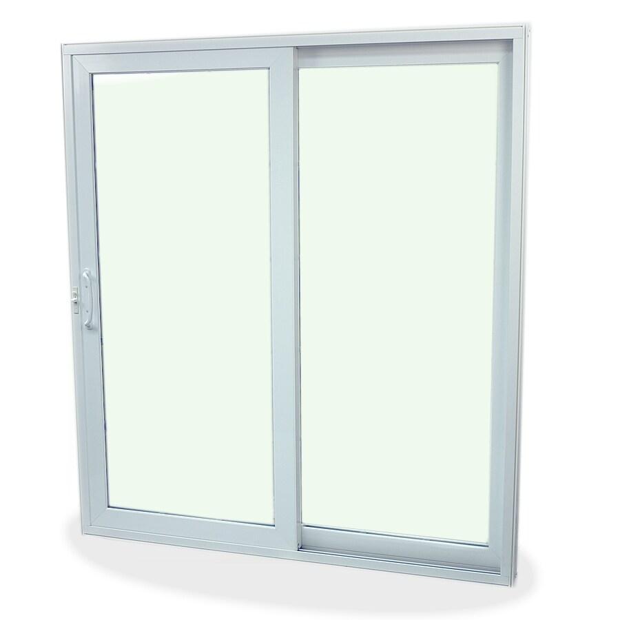SecuraSeal 59-in Low-E Argon Clear Composite Sliding  Patio Door