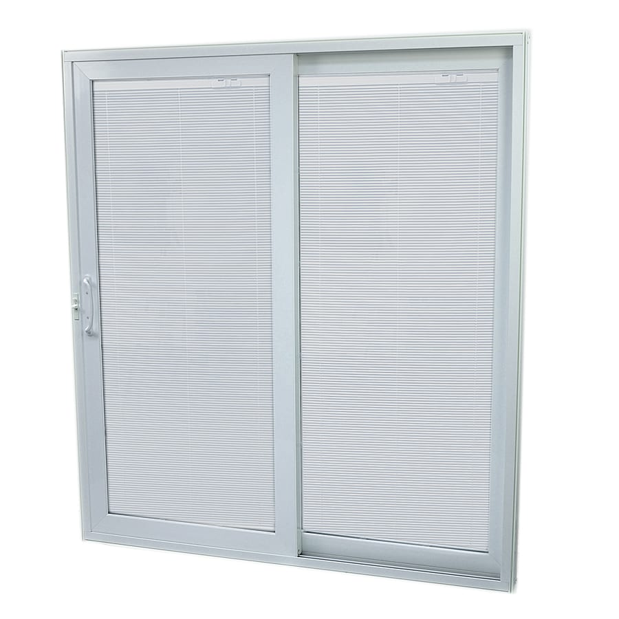SecuraSeal 59-in Low-E Argon Blinds Between Glass Composite Sliding  Patio Door