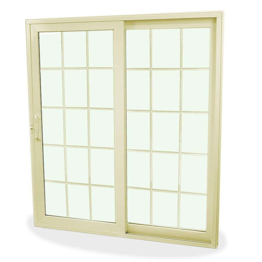 SecuraSeal 71-in Low-E Argon Grilles Between Glass Composite Sliding  Patio Door