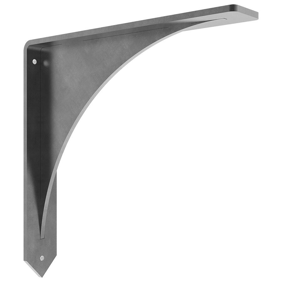Federal Brace Arrowwood 10-in x 2-in x 10-in Plain Steel Countertop Support Bracket