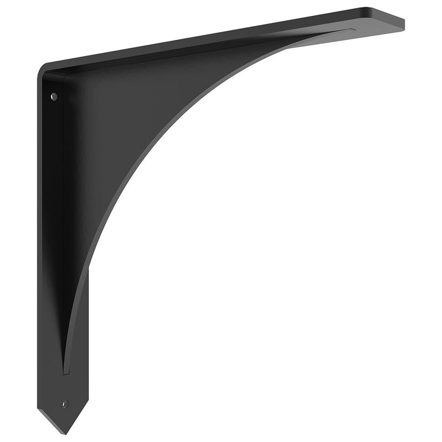 Shop federal brace arrowwood countertop bracket 14x14 for Maximum granite overhang without support