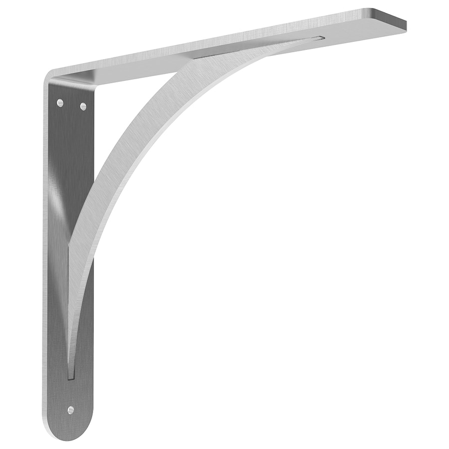 Federal Brace Brunswick 16-in x 2-in x 16-in Stainless Steel Countertop Support Bracket