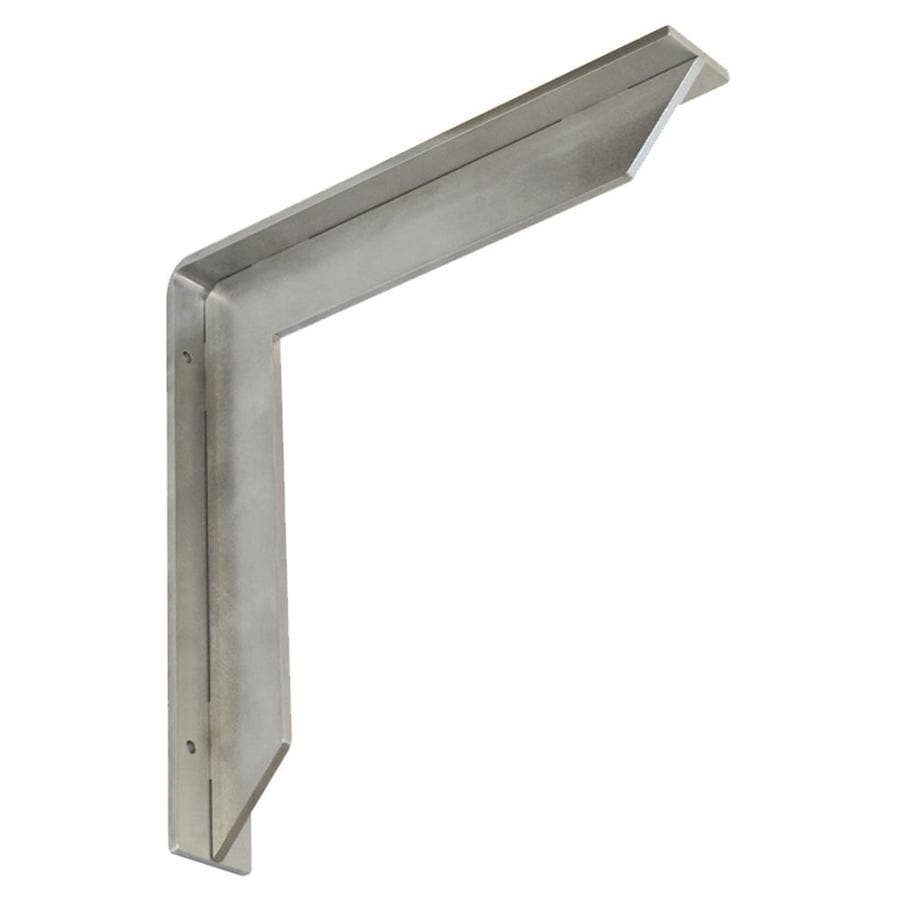 Federal Brace Streamline 12-in x 2-in x 12-in Stainless Steel Countertop Support Bracket